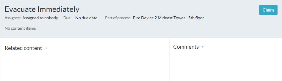 Smart Client Workspace - Workflow tab - Claim