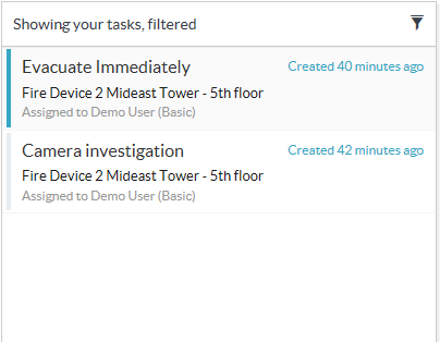 Smart Client Workspace - Workflow tab - Filtered tasks