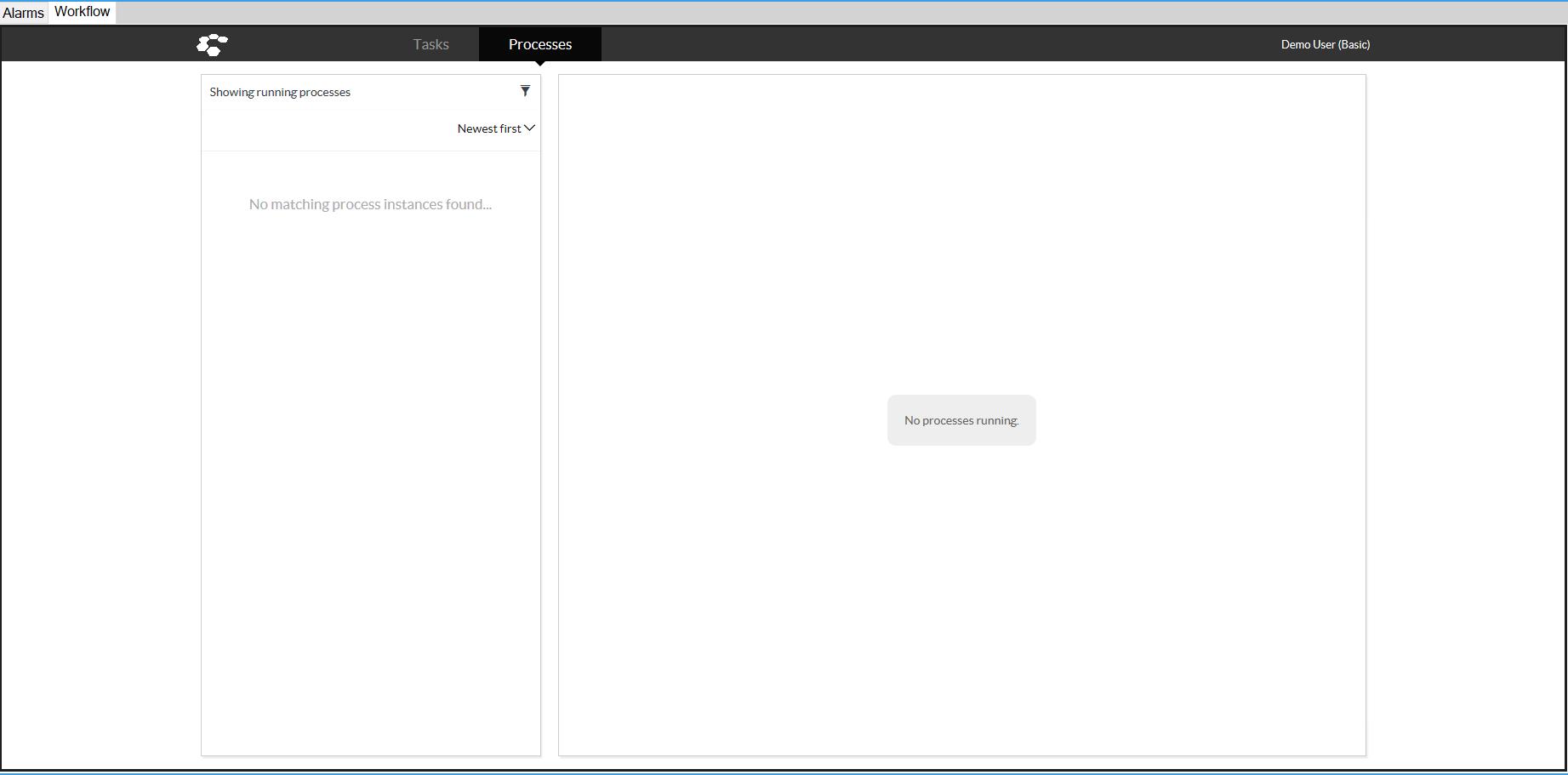 Smart Client Workspace - Workflow tab