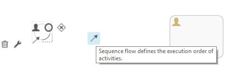 Workflow Process Editor - Arrow drag