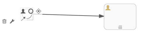 Workflow Process Editor - Arrow drop